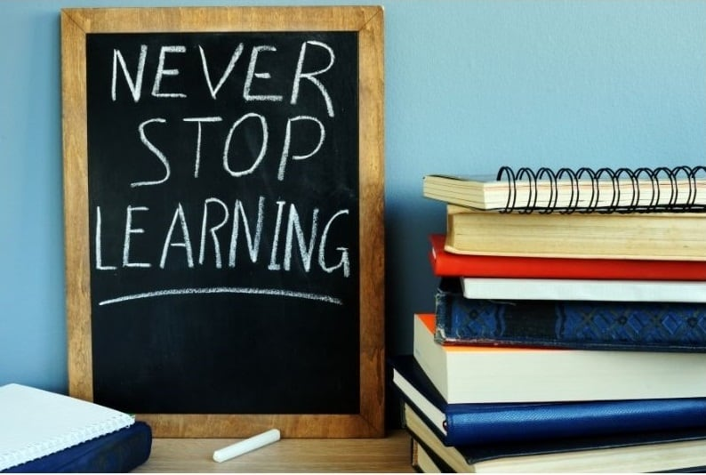 Never stop learning on a blackboard