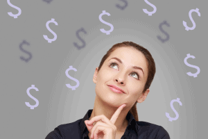 Woman Business Owner Thinking Dollars