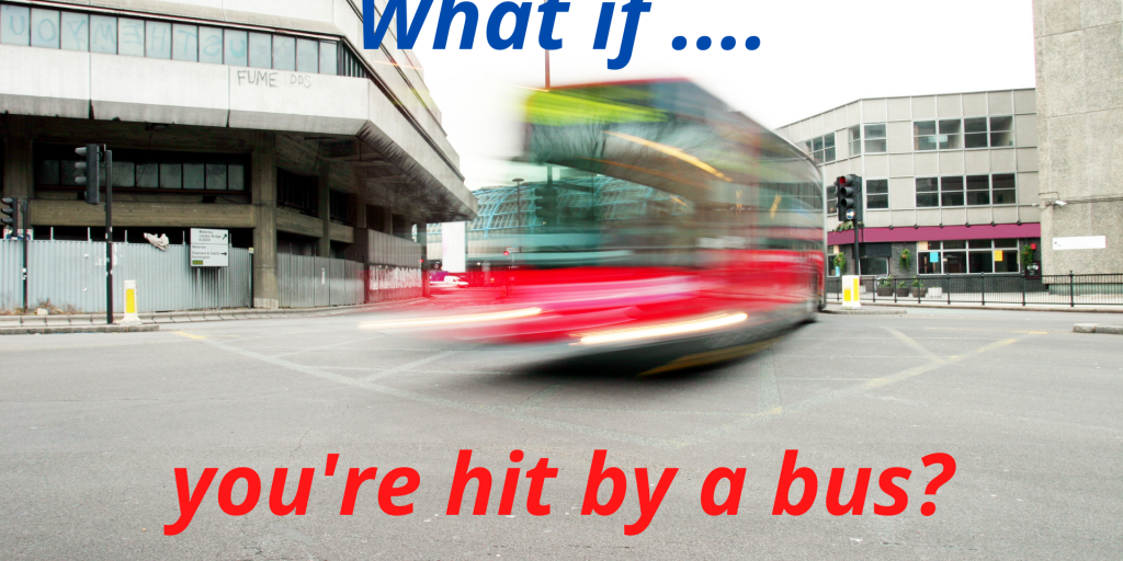 Image of a bus travelling at speed