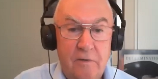 John Denton with headphones